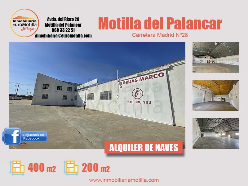 Alquiler de 2 naves industriales en Motilla del Palancar